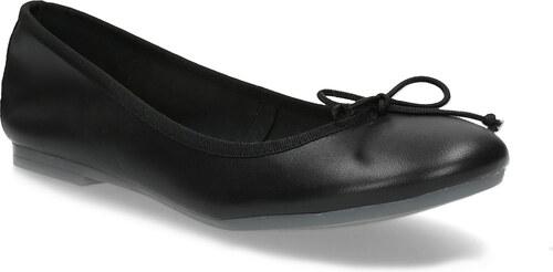 e56c6fd1c83cc Bata Kožené černé baleríny s mašličkou - Glami.cz