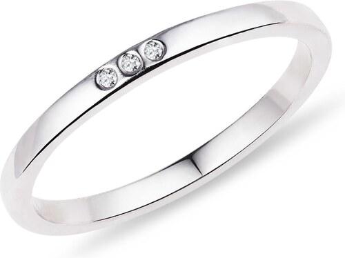 Snubni Prsten Z Bileho Zlata S Diamanty Klenota K0441022 Glami Cz