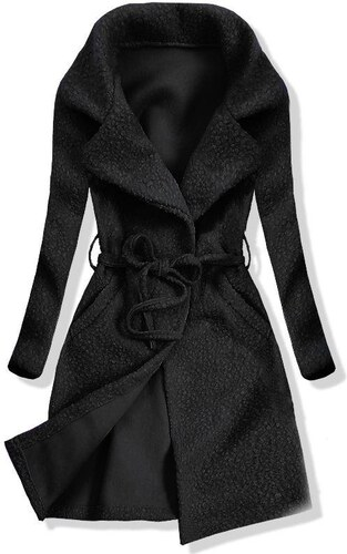 Trendovo Čierny jarný kabát na zaväzovanie - Glami.sk f72a98ed851