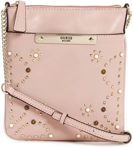 GUESS kabelka Britta Embellished Mini Tourist Cross ružová b992f52d1ec