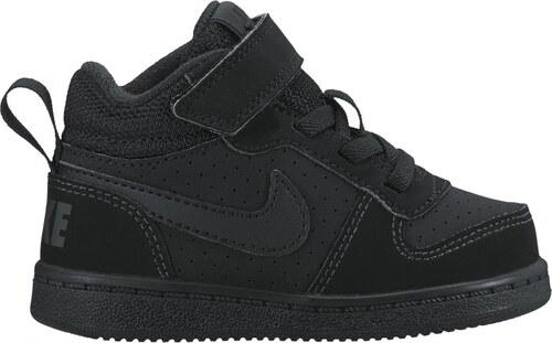 Dětské Tenisky Nike COURT BOROUGH MID (TDV) BLACK BLACK - Glami.cz a223cfc710