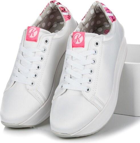 f5e651a857 Biele tenisky na platforme K1630201BLA - Glami.sk