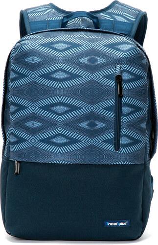 Módní cestovní modrý batoh - Travel plus 0117 modrá - Glami.cz 63b0501ce6