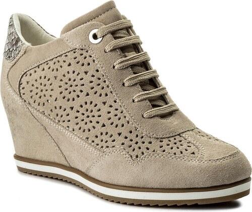 -34% Sneakersy GEOX - D Illusion B D8254B 00022 CH65A Lt Taupe Beige 3ce1265f3f