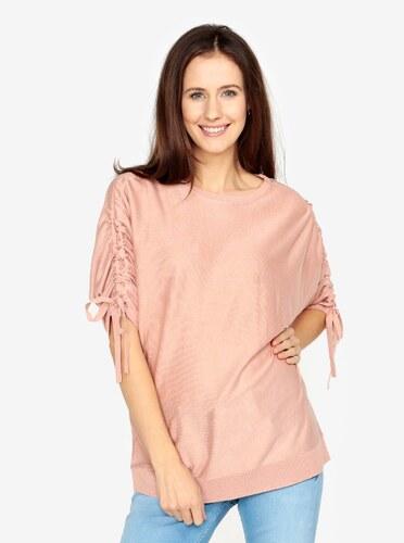 Růžový volný svetr s netopýřími rukávy VERO MODA Adriana - Glami.cz 72ffd5ab38