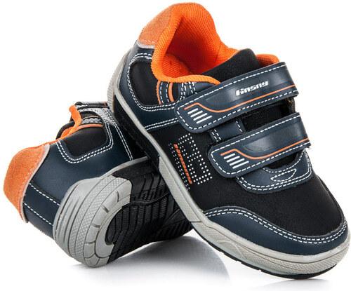 7f2b30f5221 HASBY Sportovní černé dětské boty na suchý zip - Glami.cz