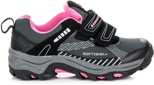5dcdc474c1ee HASBY Detské šedo-ružové softshellové športové tenisky - Glami.sk