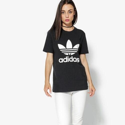 Adidas Tričko Ss Trefoil Tee Adicolor ženy Oblečení Trička CV9888 Černá c1f10af0362