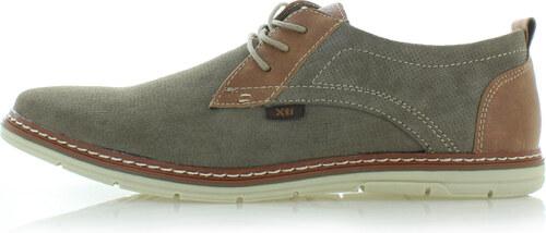 XTI Pánské hnědo-zelené boty 47171 - Glami.cz 71ef99d602