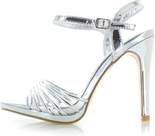 923a03f4d9d5 Belle Women Strieborné sandále Sheba - Glami.sk