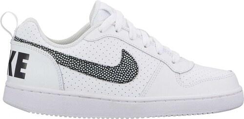 new arrival 95c03 1cf55 Dětské Tenisky Nike COURT BOROUGH LOW (GS) WHITE BLACK