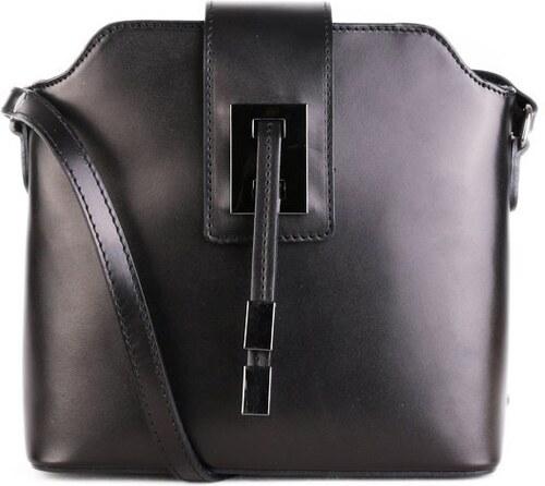 Talianske kožené kabelky crossbody čierne Zaira - Glami.sk 2833be60b7c