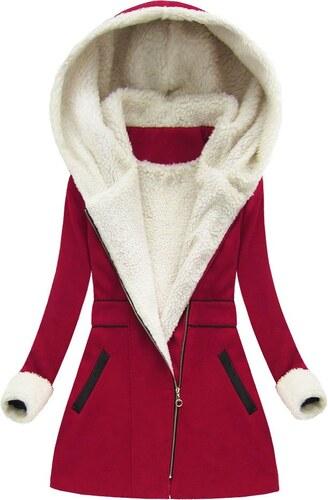 MADE IN ITALY Dámský zimní kabát červený (68ART) - Glami.cz acd15fab13f