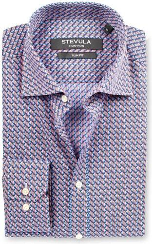 e5426e138081 STEVULA Vzorovaná slim fit košeľa z popelínu s úpravou Non-iron ...