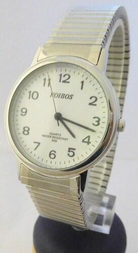 fa97d831a01 Pánské zlaté ocelové hodinky Foibos 7432GS s natahovacím páskem