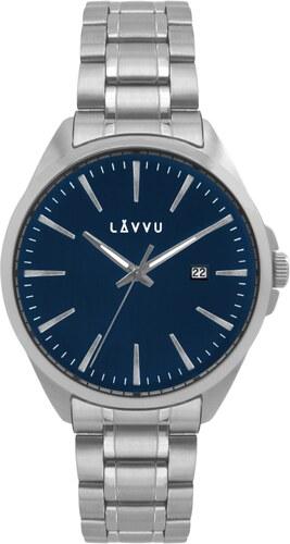 Vodotěsné stylové pánské hodinky LAVVU STAVANGER Blue LWM0041 - Glami.cz 557ae587d4