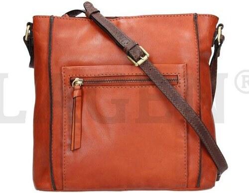 573ad680df Lagen 23308 oranžová dámská kožená kabelka - Glami.cz