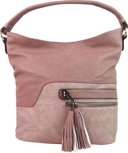 2f6deaf75a Sara Bag Elegantní kombinovaná dámská crossbody kabelka F1349 růžová ...