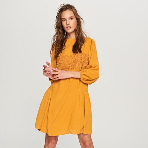 Reserved - Čipkované šaty - Žltá - Glami.sk e32893c5b29