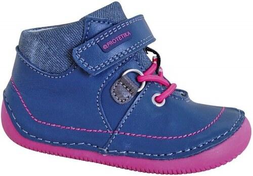 Protetika Dívčí kotníkové boty barefoot Lens - modré - Glami.cz 5ebe8c158e