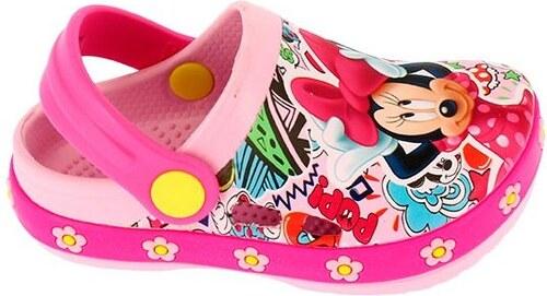 d4e277fb5fa7 Disney by Arnetta Dievčenské sandále Minnie -světle ružové - Glami.sk