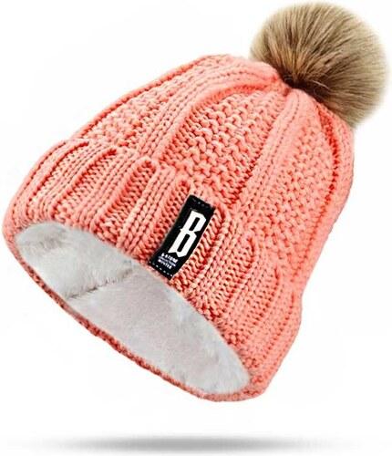 Cixi Dámská zimní čepice s bambulí Růžová - Glami.cz 4a72f135c4