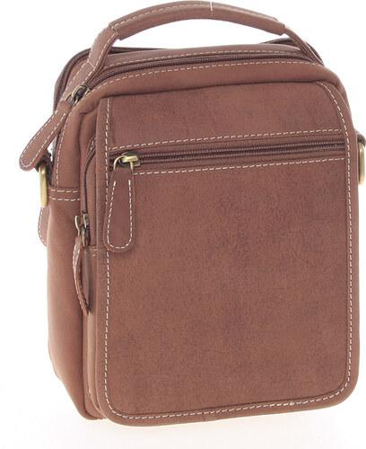 Hnedá kožená taška cez rameno SendiDesign Rico hnedá - Glami.sk 0bd43f97636