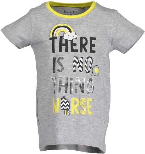ad0ad773f048 Blue Seven Dievčenské tričko s nápisom - šedé - Glami.sk