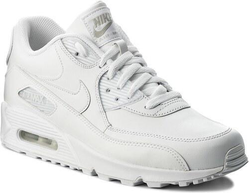Topánky NIKE - Air Max 90 Leather 302519 113 True White True White ... b267127e4d