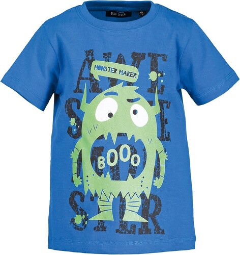 Blue Seven Chlapecké tričko s příšerkou - modré - Glami.cz 0717600916