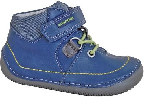 4235849f29f6 Protetika Chlapčenské členkové topánky barefoot Lens - modré - Glami.sk
