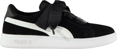 Puma Smash Ribbon Infant Girls Trainers Black White - Glami.sk cdb399e9f