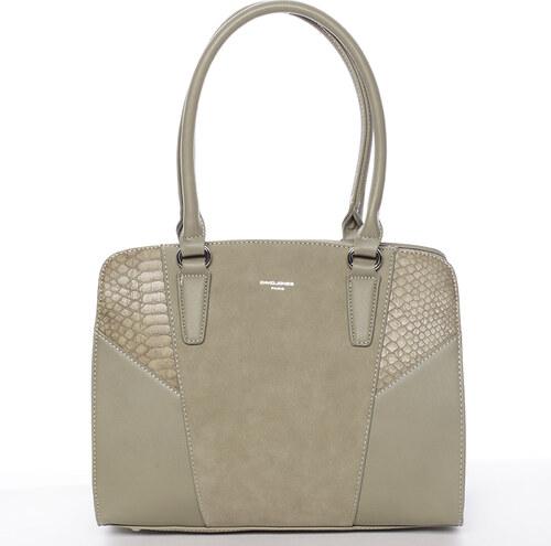 Elegantní dámská olivová kabelka přes rameno - David Jones Sirel zelená da51f7722d4
