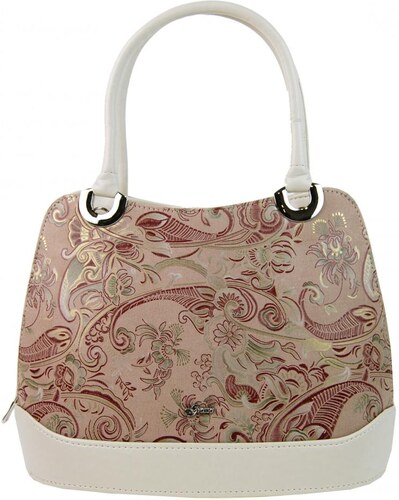 2b0bb14f7f Béžová dámska kabelka na rameno s etnickým vzorom S714 GROSSO - Glami.sk