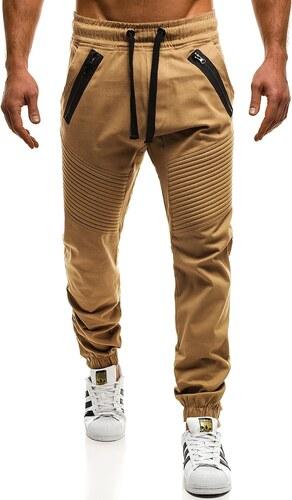 Karamelové chinos jogger kalhoty OZONEE A 0952 - Glami.cz 2166dd5095