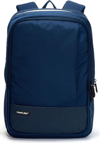 Kvalitní školní a cestovní batoh modrý - Travel plus 0100 modrá ... a9ff15da93