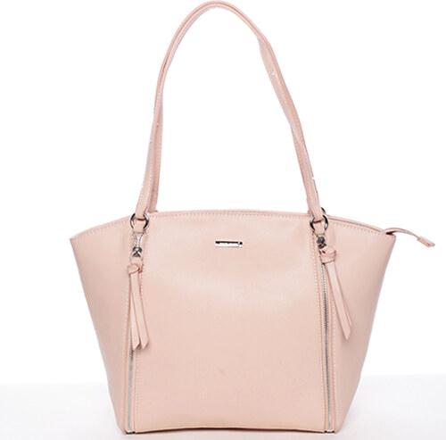 Luxusná dámska kabelka cez rameno ružová - David Jones Lenore ružová ... b814041443e