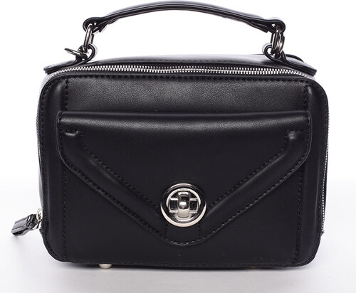 Malá atraktívna čierna dámska crossbody kabelka - David Jones Lalita čierna e9f2b402daf