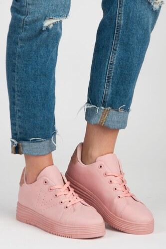 a296c0475e52 Vices Topánky tenisky na platforme ružové - Glami.sk
