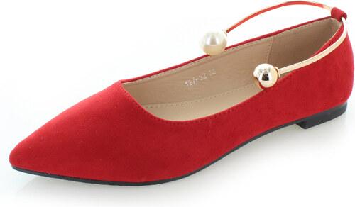 17cfa21eb2 Mulanka Piros balerina cipő Polina - Glami.hu