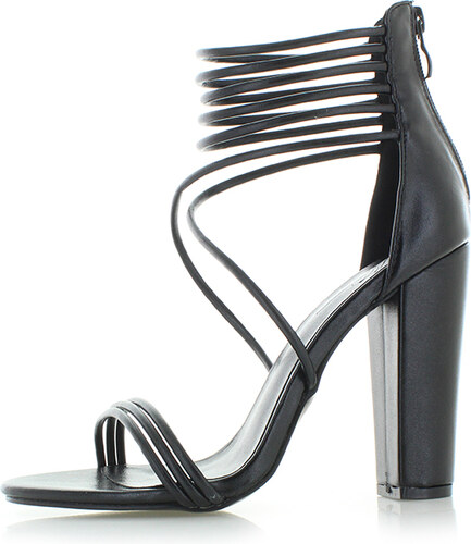 989f355cb858 Mulanka Čierne sandále Layla - Glami.sk