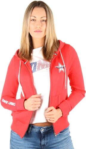 Tommy Hilfiger dámská červená mikina Logo zip - Glami.cz aa613b3a4c9