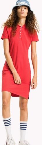 0dce8445f149 Tommy Hilfiger dámské červené polo šaty Essential - Glami.cz