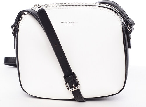 140a13c9d9 Štýlová crossbody kabelka bielo čierna - David Jones Presley čierná biela