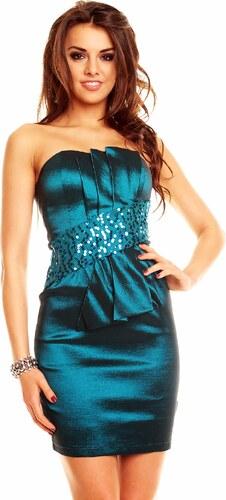 f8127c34b6e4 Dámske šaty House Style s flitrami zelené - Glami.sk