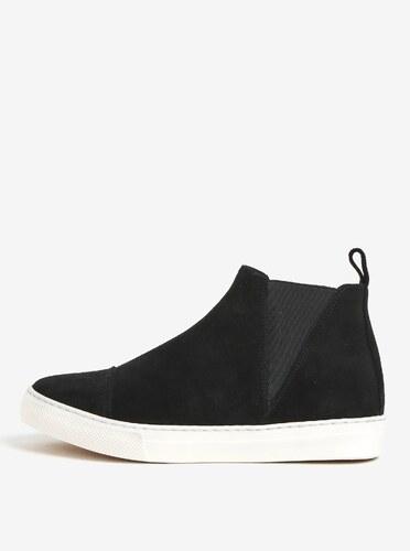 7e99f7e6c307 Čierne semišové chelsea topánky na platforme OJJU UVE-TXB - Glami.sk