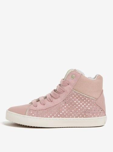 Ružové dievčenské semišové členkové tenisky Geox Kilwi - Glami.sk a7e739eac67