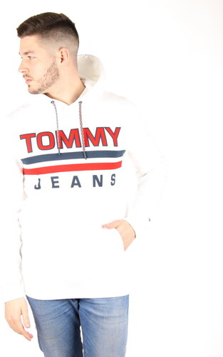 6c5cdb2a395 Tommy Hilfiger pánská bílá mikina Essential - Glami.cz