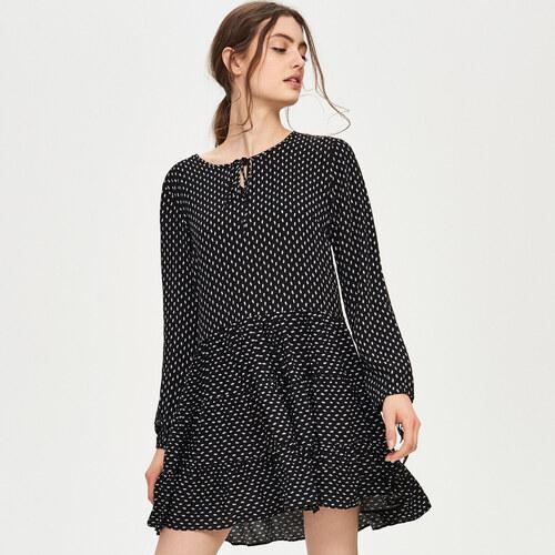 Sinsay - Bodkované šaty - Čierna - Glami.sk 4b7a087fb64