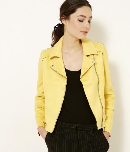 Veste cuir jaune camaieu